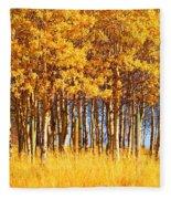 Trees In Autumn Fleece Blanket