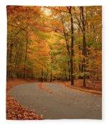 Trees Of Autumn - Holmdel Park Fleece Blanket
