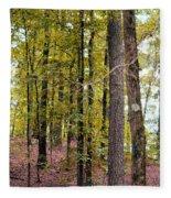 Trees Of Golden Hues Fleece Blanket