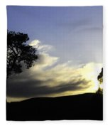 Trees On The Edge Fleece Blanket