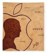Tribute To Steve Jobs Fleece Blanket