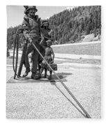 Tribute To The Mining Family - Wallace Idaho Fleece Blanket