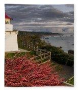 Trinidad Memorial Lighthouse After Storm Fleece Blanket