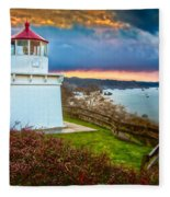 Trinidad Memorial Lighthouse Morning Fleece Blanket