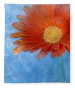 Triptych Gerbera Daisy-one Fleece Blanket