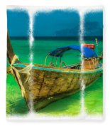 Triptych Longboat Fleece Blanket