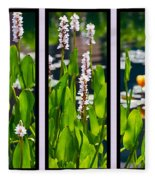 Triptych Of Water Hyacinth Fleece Blanket