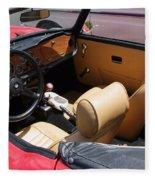 Triumph Tr6 Seats Fleece Blanket