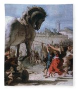 Trojan Horse Fleece Blanket
