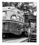 Trolley Car Diner - Philadelphia Fleece Blanket