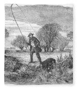 Trolling For Jack, 1850 Fleece Blanket