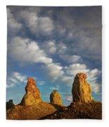 Trona Pinnacles 5 Fleece Blanket