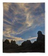 Trona Pinnacles 6 Fleece Blanket