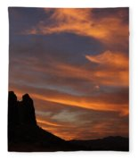 Trona Pinnacles 7 Fleece Blanket