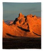 Trona Pinnacles Panorama Fleece Blanket