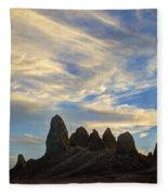 Trona Pinnacles Windswept Fleece Blanket