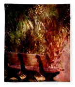 Tropical Bench Fleece Blanket