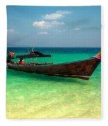 Tropical Boat Fleece Blanket