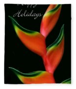Tropical Holiday Card Fleece Blanket