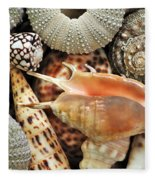 Tropical Shells Fleece Blanket