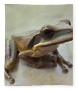 Tropical Tree Frog II Fleece Blanket