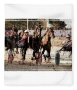 Trotting 3 Fleece Blanket