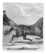Trotting Horse, 1861 Fleece Blanket