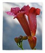 Trumpet Vine Floral Fleece Blanket