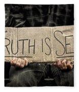 Truth Is Sexy Fleece Blanket