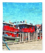 Tugboat Twc Fleece Blanket