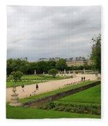 Tuileries Gardens 4 Fleece Blanket