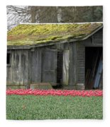 Tulip Barn Fleece Blanket