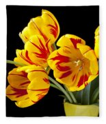 Tulip Bouquet  Fleece Blanket