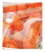 Tulip Car Abstract Fleece Blanket