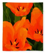 Tulip Trio Fleece Blanket