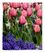 Tulips And Friends Fleece Blanket