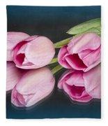 Tulips And Reflections Fleece Blanket