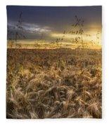 Tumble Wheat Fleece Blanket