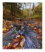 Tumbling Leaves Fleece Blanket