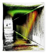 Tunnel Of Colour Fleece Blanket