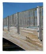 Turkey Point Bridge Fleece Blanket