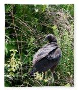 Black Vulture - Buzzard Fleece Blanket
