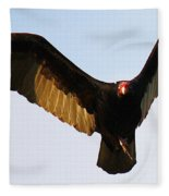 Turkey Vulture Evening Flight Fleece Blanket
