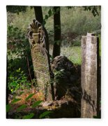 Turkish Cemetery In Rural Mugla Province Fleece Blanket