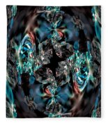 Turquoise Crystals Fleece Blanket