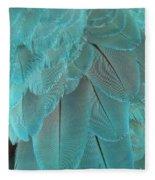 Turquoise Blue Feathers Fleece Blanket