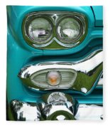 Turquoise Headlight Fleece Blanket