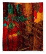 Turquoise Mountains Fleece Blanket
