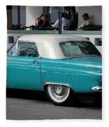 Turquoise Thunderbird Fleece Blanket