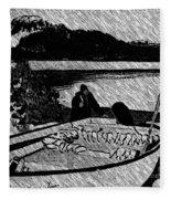 Turr Hunt Sketch Fleece Blanket